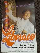 "LIBERACE Authentic Musical Poster - ""Mr. Showmanship"""