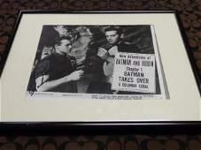 "JOHN DUNCAN Autographed Batman & Robin 8"" by 10"" Black"