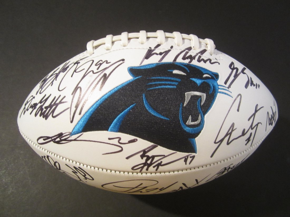 Panthers Team Signed Football
