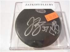 Fleury  Zatkoff signed puck