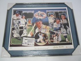 Mickey Mantle Signed Litho