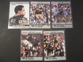 Steelers Signed Card Lot (5)