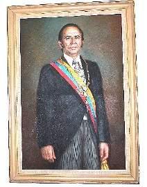 Portrait of Carlos A. Perez 1st. Presidency 1970s