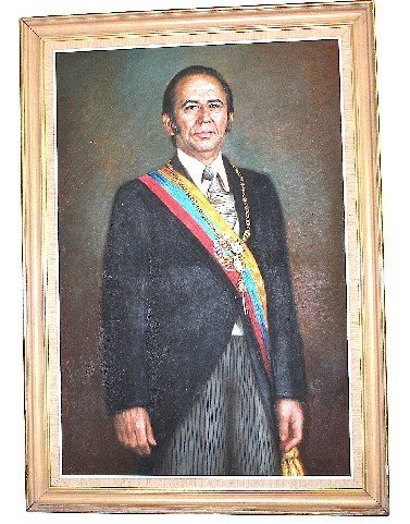 Portrait of Carlos A. Perez 1st. Presidency 1970s