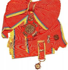 Order Of Congress Colombia Award W/ribbon