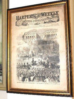 Original Newspaper Dated 1861 Presented To Him In 1992