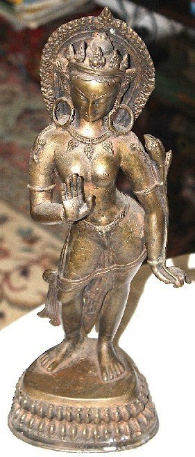 "Vintage Thai Goddess 15"" Tall"