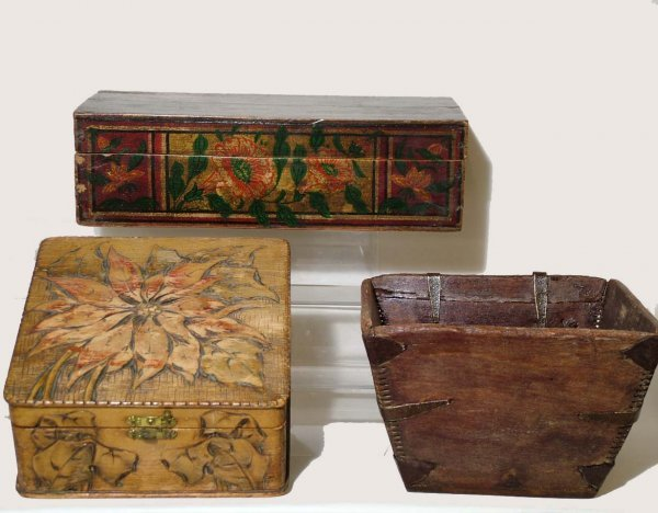 6: Group of Primitive Boxes and Bowl