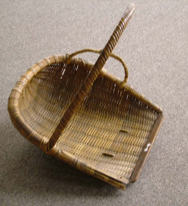 8: Antique Cranberry Basket