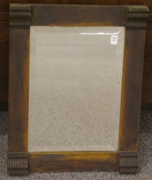13: Antique Oak Mirror Great Patina