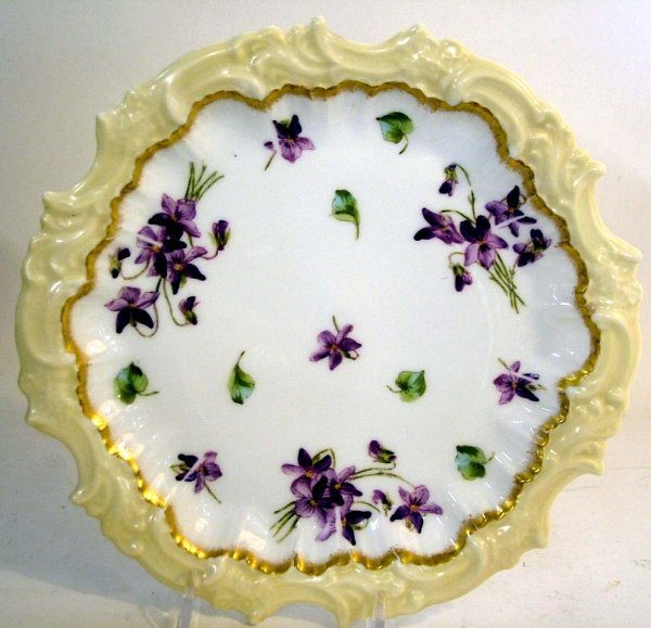 17: Limoges T&V France Handpainted Plate