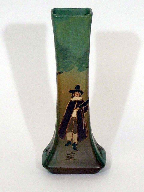 78: Weller Dickensware Pilgrim Vase