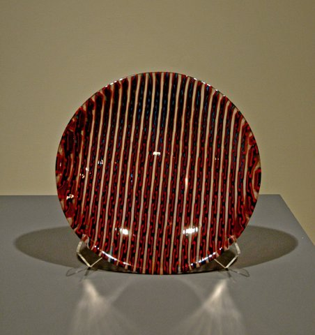 2: Languid Links Fused Glass Bowl by Jeff Phelps