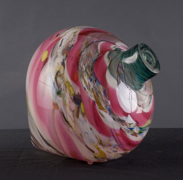 8: Ruby Spinner, blown glass by Kathleen Mulcahy