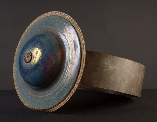 9: Ring Sculpture by Sheila Klein, blown glass & metal