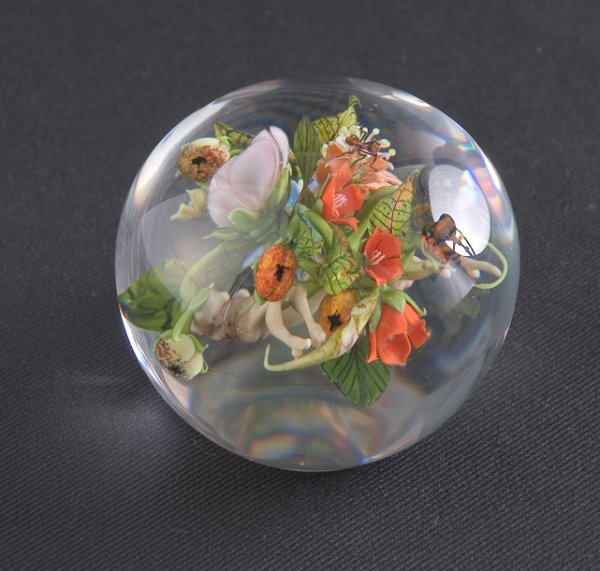 15: Flameworked Paperweight by Paul Stankard