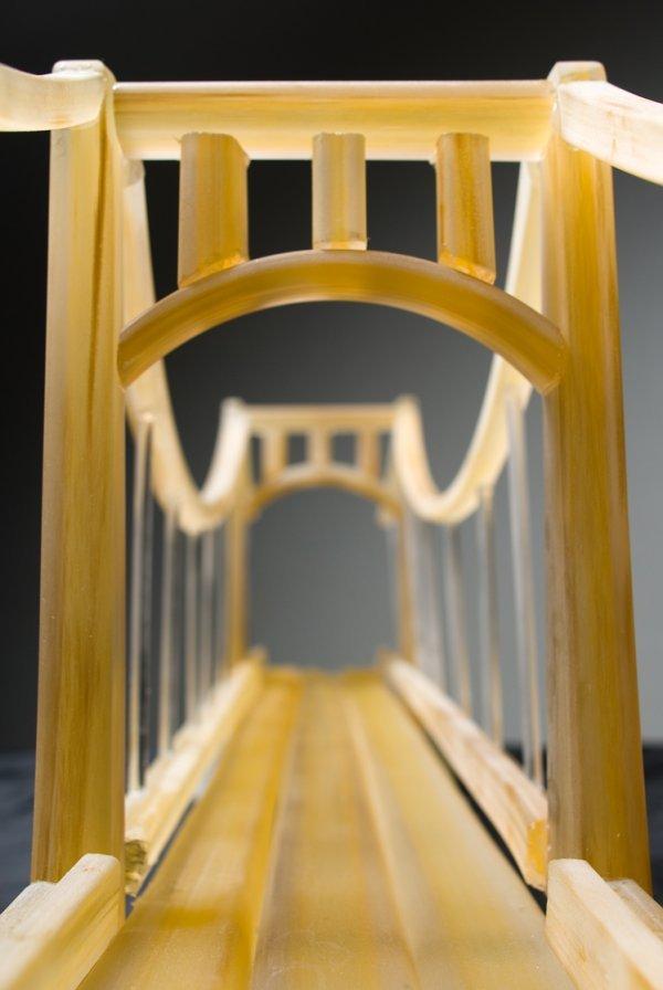 20: Golden Bridge sculpted glass by Jason Forck