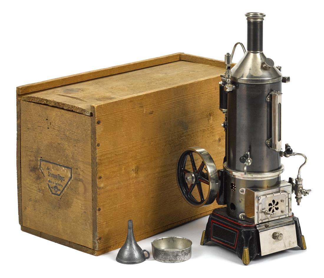 Doll et vertical single cylinder steam engine