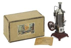Ernst Plank Cosmos steam engine, in its original box,