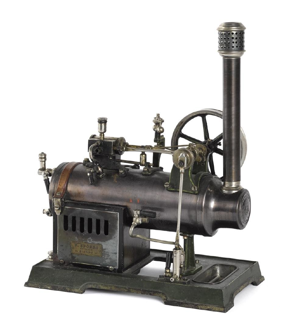 Marklin horizontal overtype steam engine with a water - 2