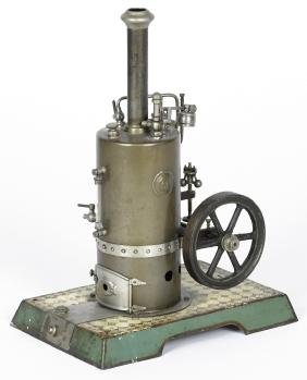 Marklin vertical single cylinder side-mounted steam