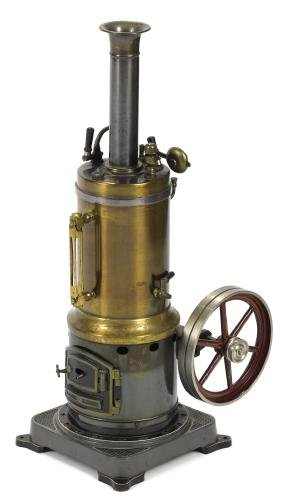 Bing vertical boiler single cylinder steam engine with