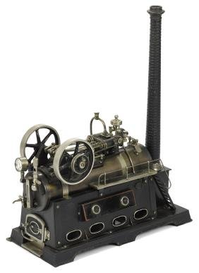 Doll et Cie double cylinder overtype steam engine, with