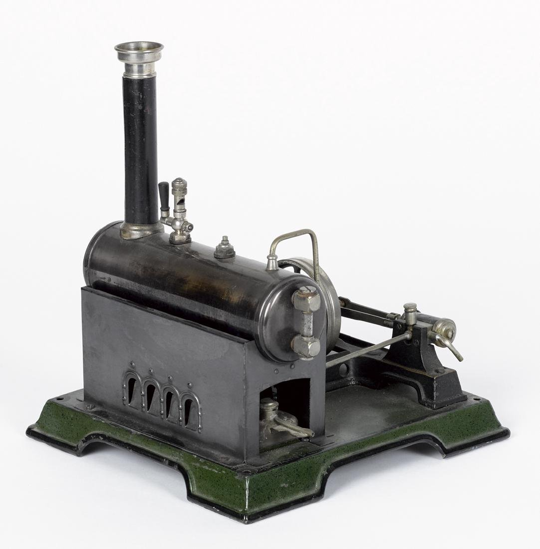Marklin single cylinder steam plant, on a painted steel - 2