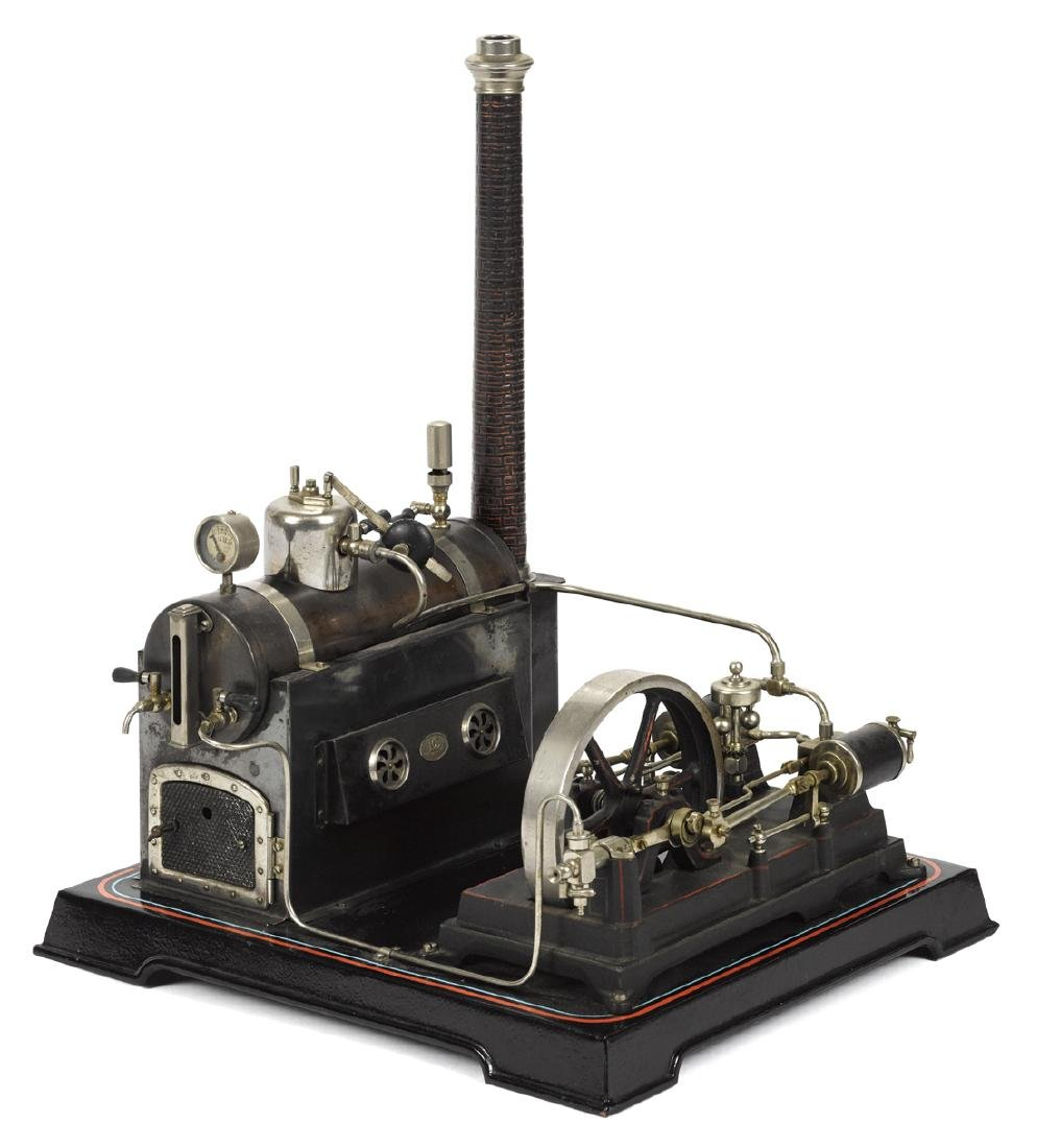 Doll et Cie steam plant with a double cylinder engine,