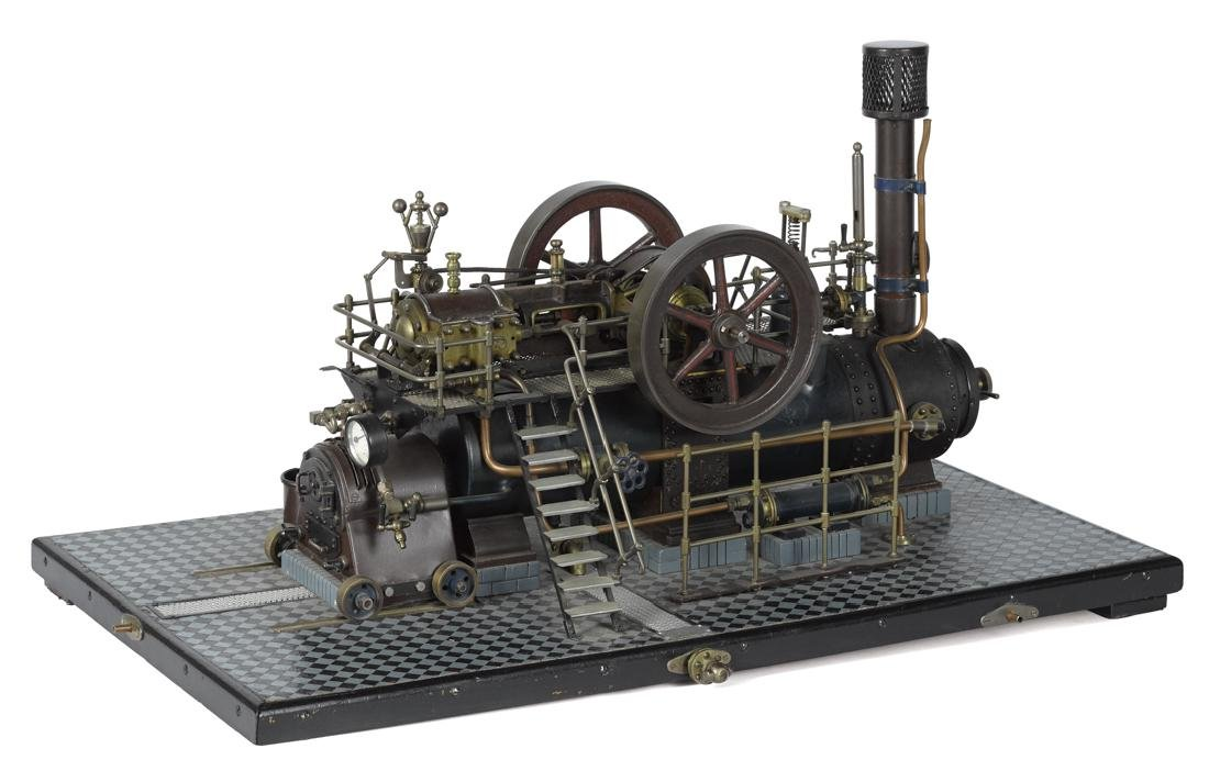 Impressive working model of a double cylinder overtype