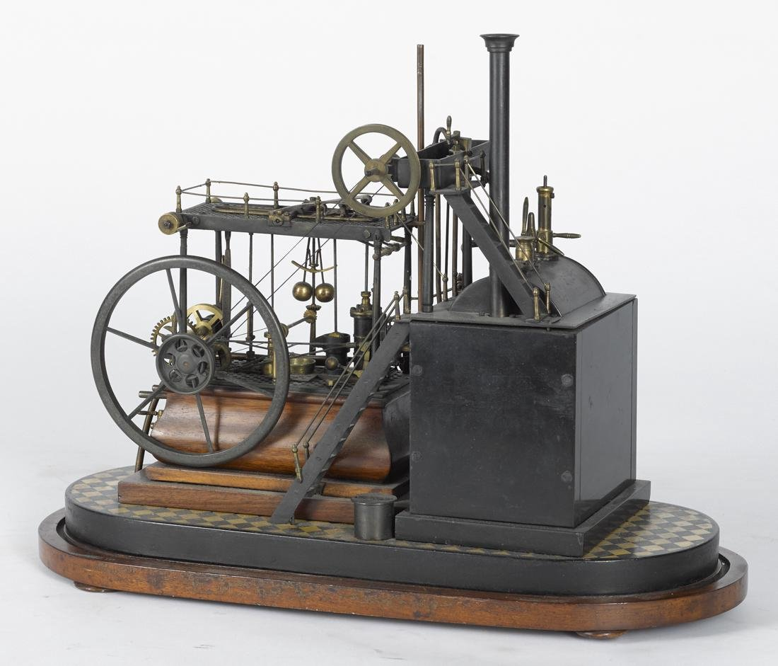 Highly detailed working steam walking beam engine, 19th - 2