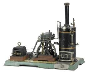 Marklin hammer steam plant with a vertical boiler, with