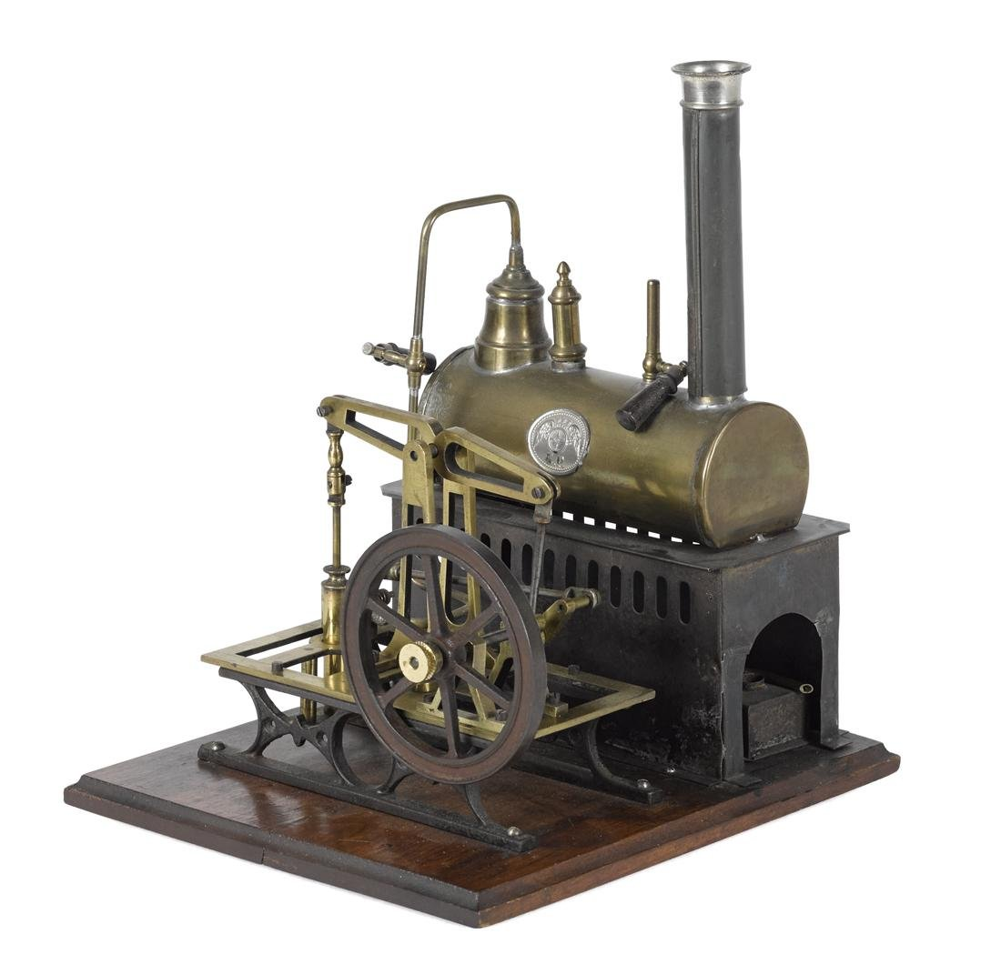 Ernst Plank steam plant with a copper boiler having a