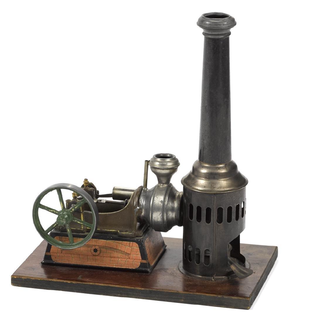 Krauss N. Moore hot air engine, single cylinder drive