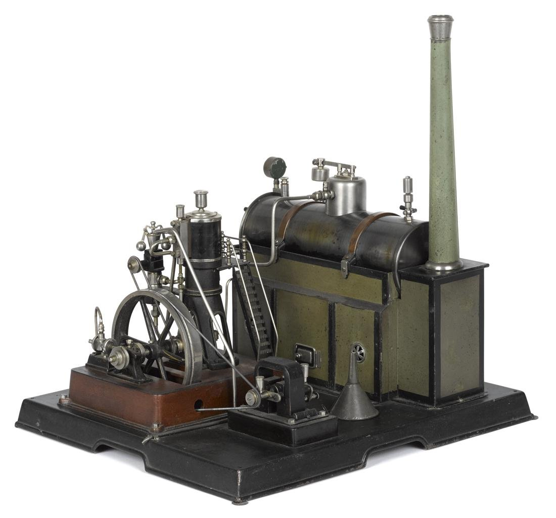 Marklin steam plant with marine style engine and all