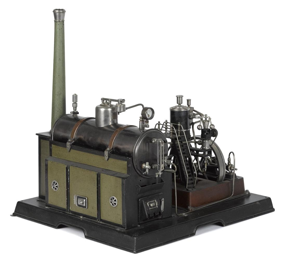 Marklin steam plant with marine style engine and all - 2