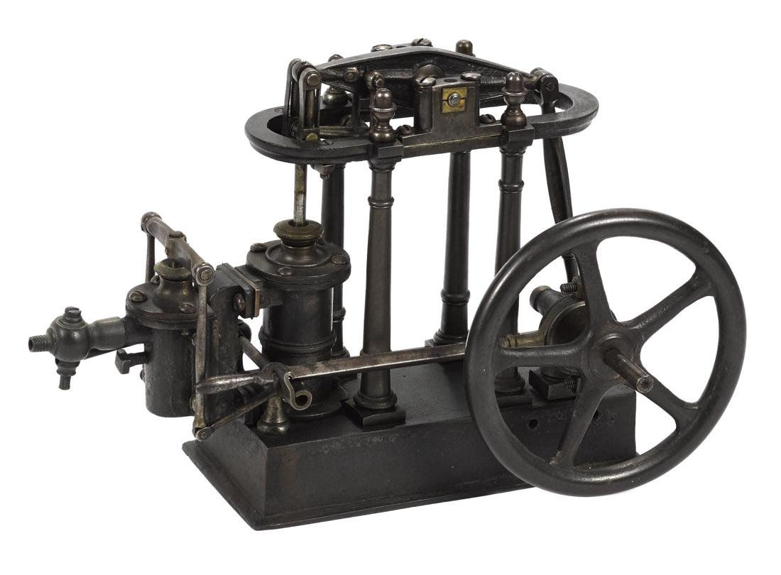 Walking beam engine in heavy cast iron, possibly an