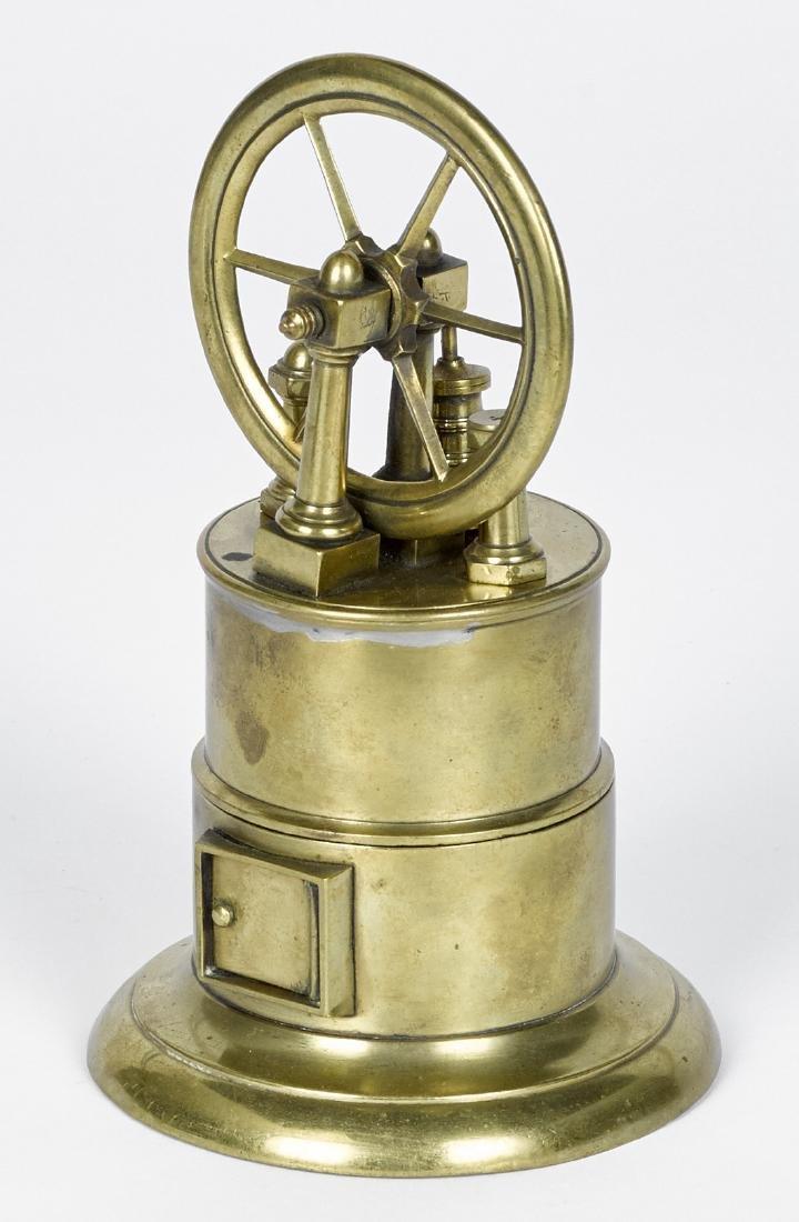 Stevens dockyard style brass overtype steam engine with
