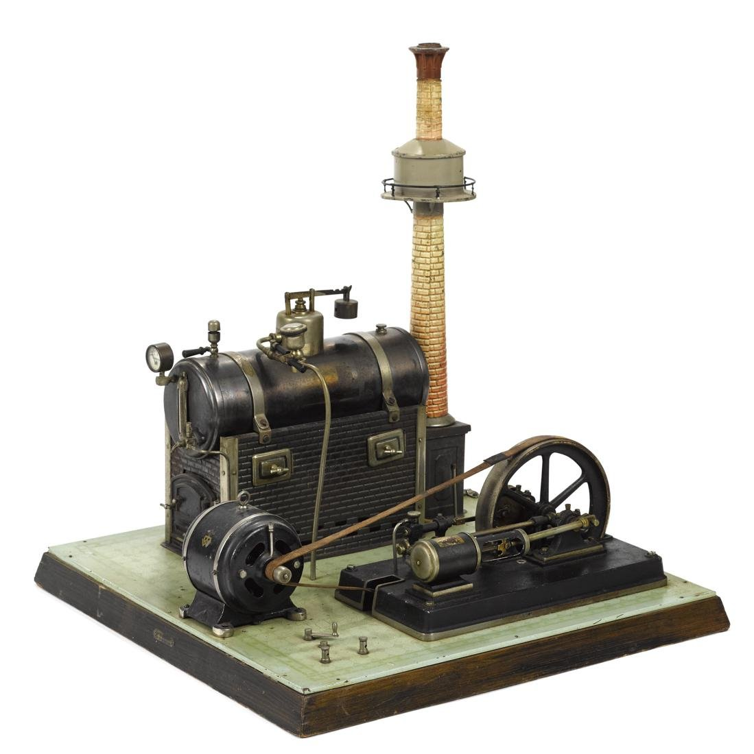 Bing steam plant with dynamo and a single cylinder