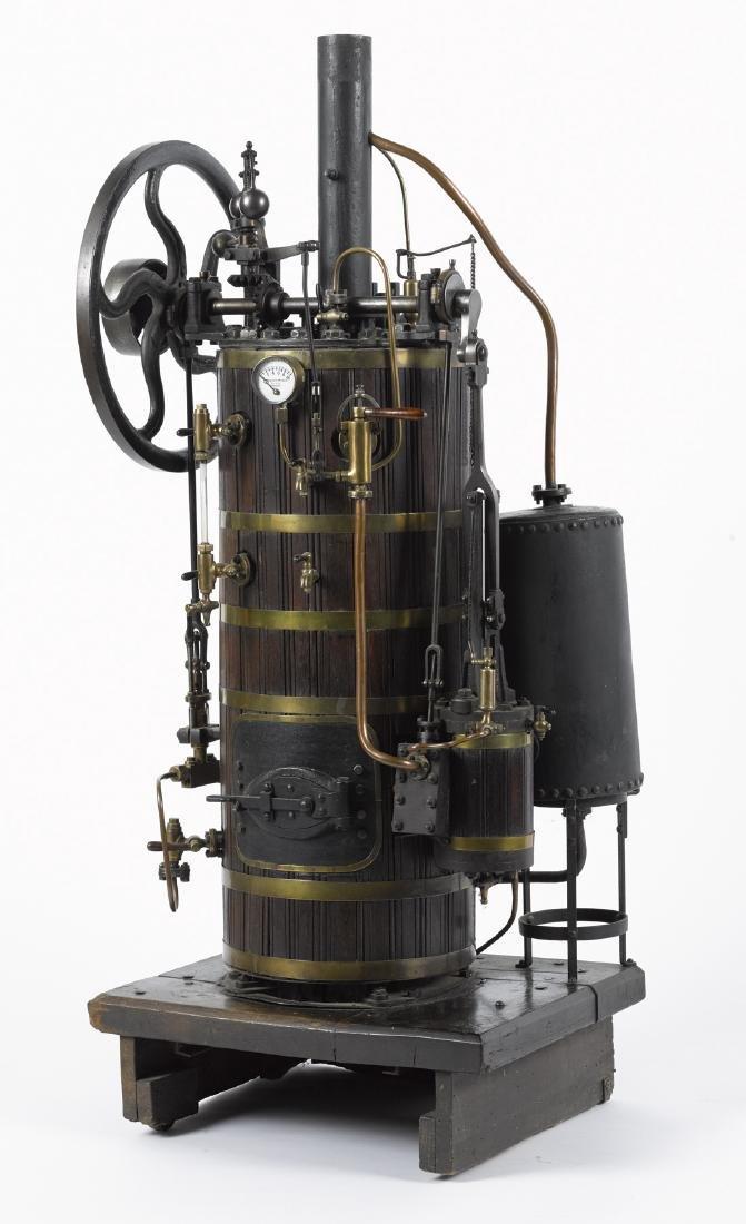 Large Radiguet vertical overtype steam engine, 19th c.,