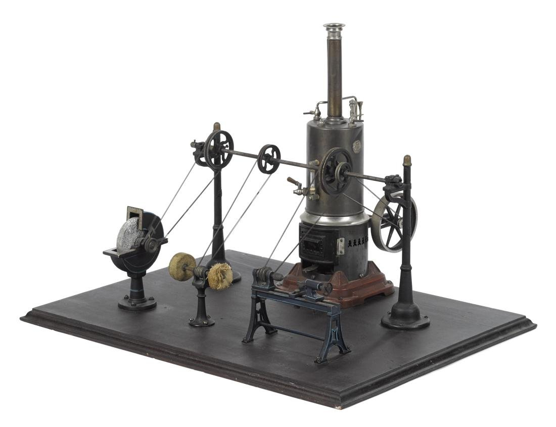 Marklin vertical steam engine with transmission and