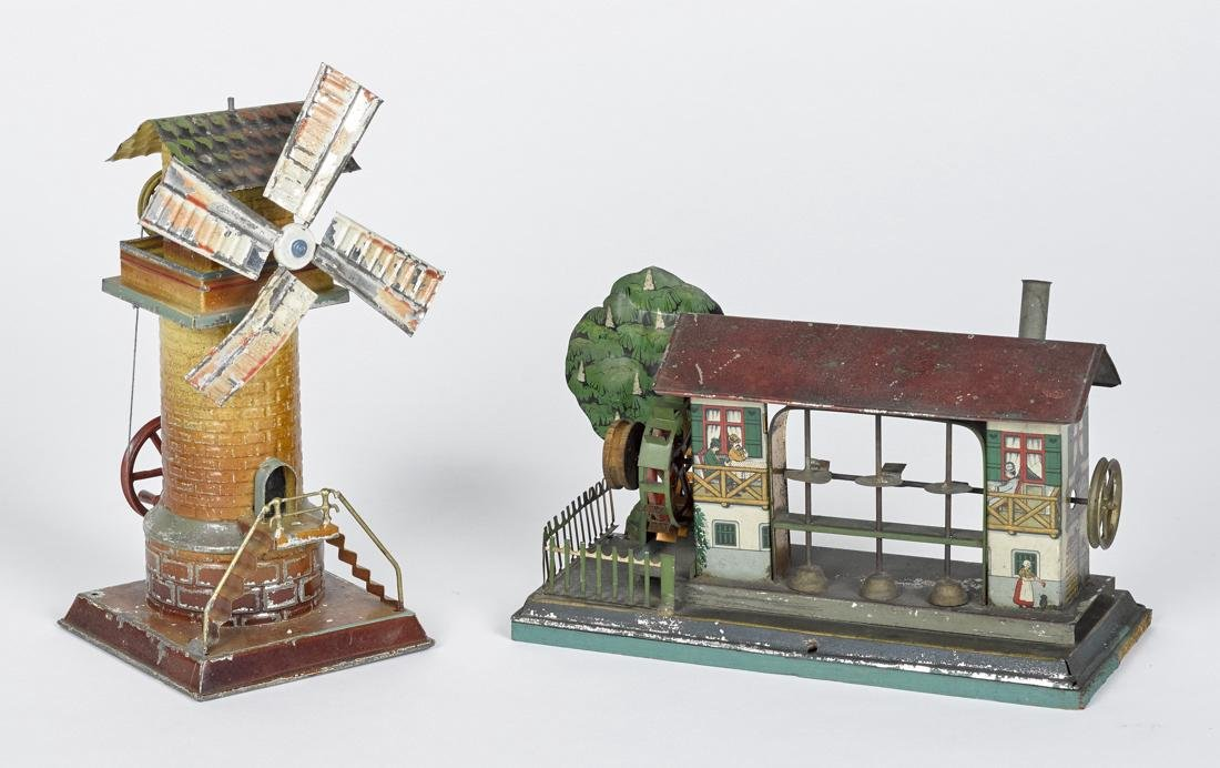 Two tin steam engine accessories, to include a Krauss &