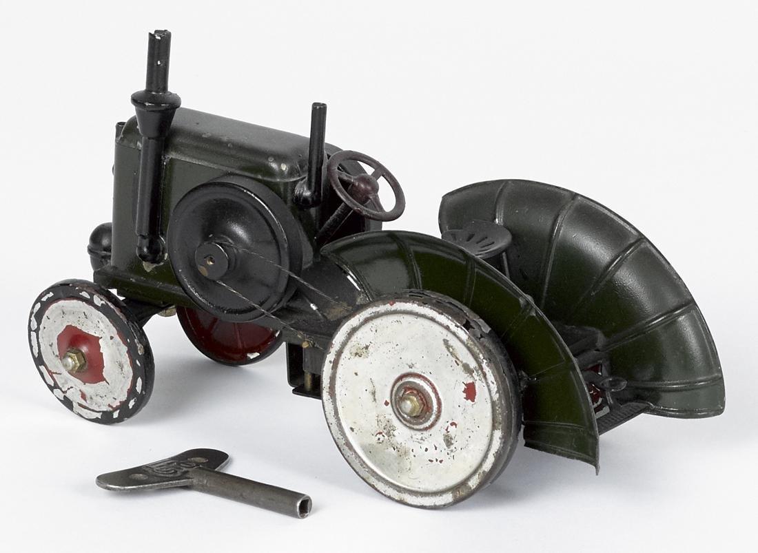 Marklin painted tin clockwork tractor, 4 1/2'' h., 7 - 2