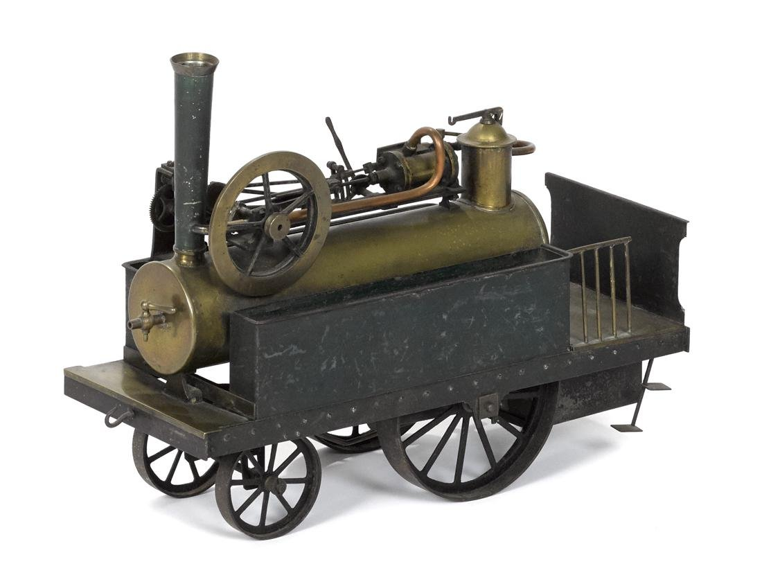 Live steam powered traction engine, overtype