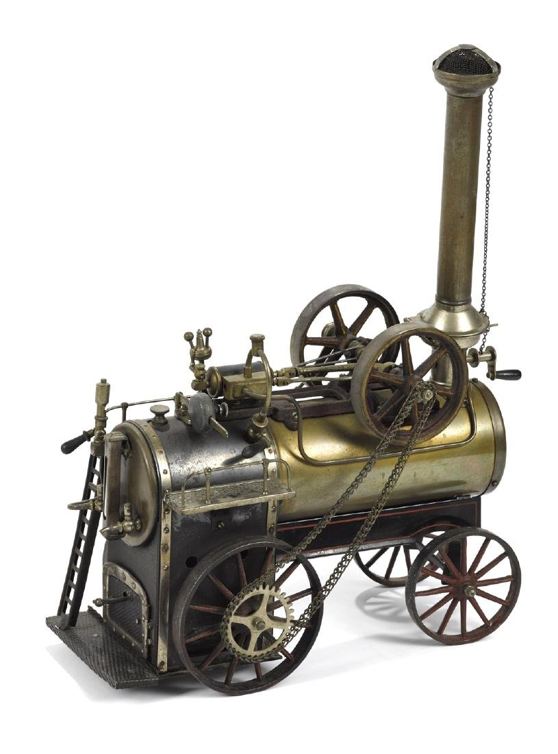 Doll et Cie live steam traction engine, with proper