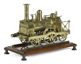 Magnet live steam train locomotive, 2-2-2, with double