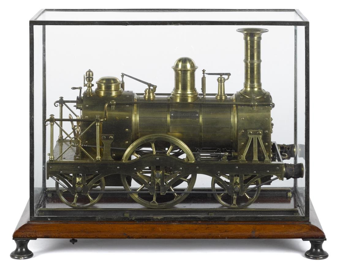Magnet live steam train locomotive, 2-2-2, with double - 3