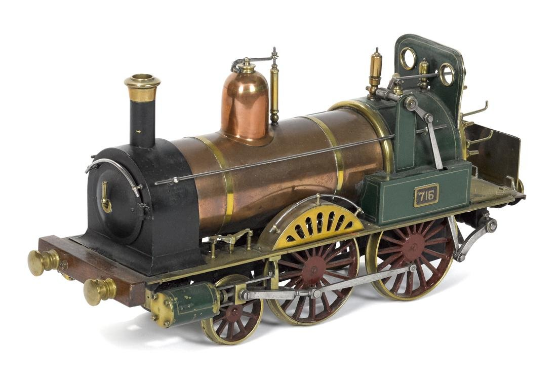 Finely crafted English style 2-4-0 locomotive, of