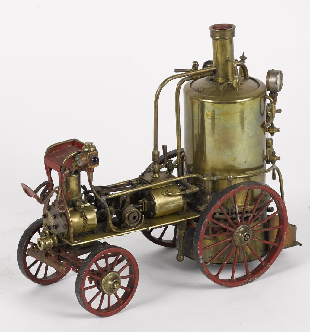 Brass scale live steam fire pumper, highly detailed