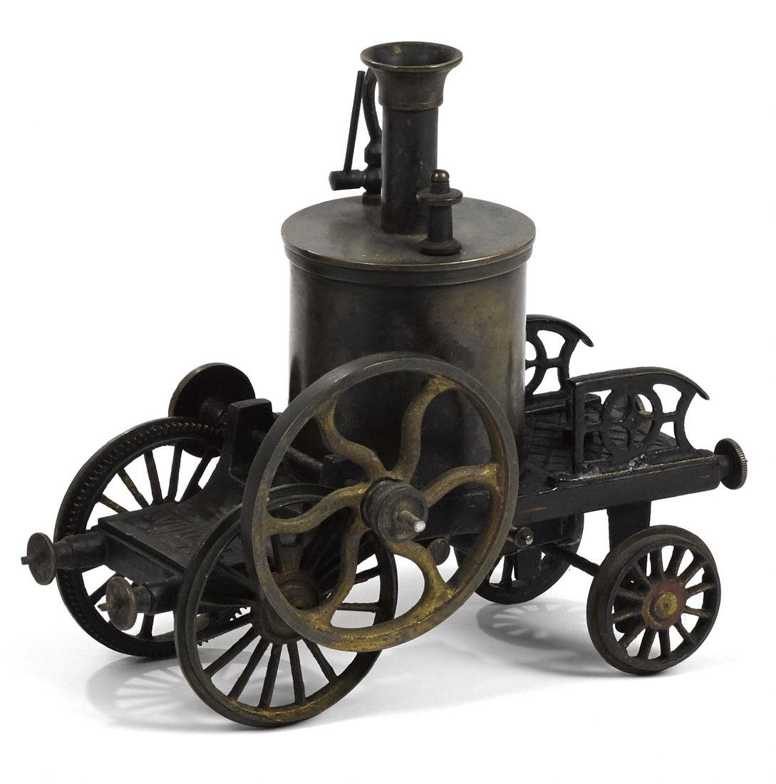 Live steam Vulcan track engine, brass and copper with a